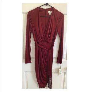 Sexy burgundy dress!